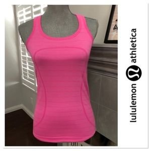 Lululemon Run Swiftly Razorback Hot Pink